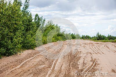 Sand Trax Sand Lander Road tiretracks in the sand