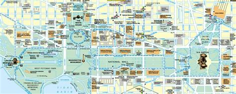 washington dc map of attractions washington dc travel map washington dc map