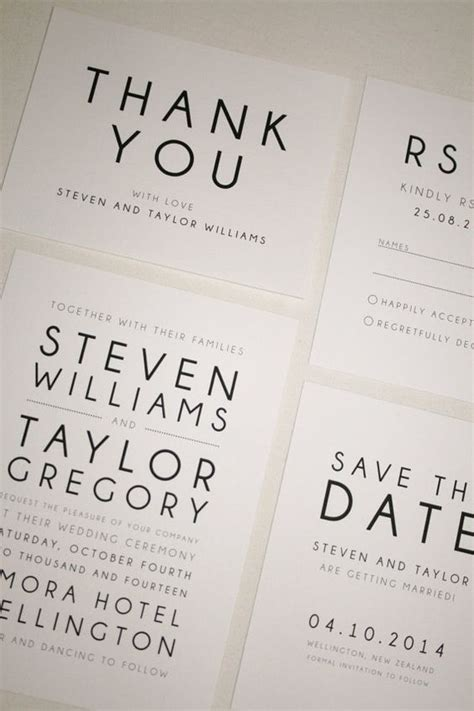 Wedding Font Simple by Printable Wedding Invitation Modern Suite Rsvp Save The
