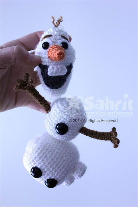amigurumi pattern olaf olaf the funniest snowman sahrit in wonderland