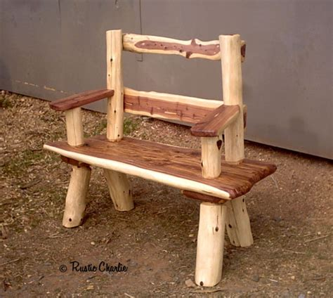 cedar log benches benches chairs handcrafted log handmade rustic furniture lodge cabin furniture log furniture at rusticcharlie com
