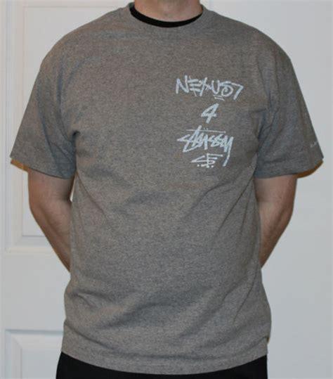 stussy x nexus 7 grey reflective t shirt size l