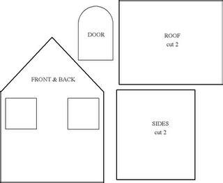 felt house template mel stz wee houses 124 links templates tutorials etc