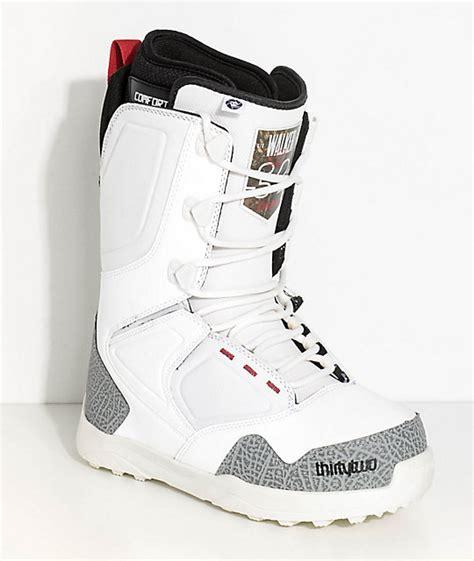 light up snowboard boots thirtytwo light white walker snowboard boots zumiez