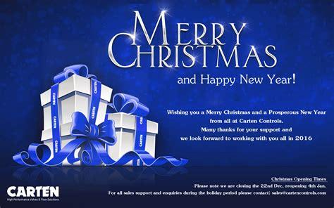 seasons greetings from carten carten controls