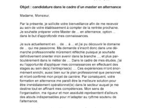 Lettre De Motivation De Biologie Lettre De Motivation Master Alternance Par Lettreutile