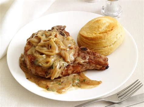 smothered lamb chops smothered pork chops recipe food network kitchen food