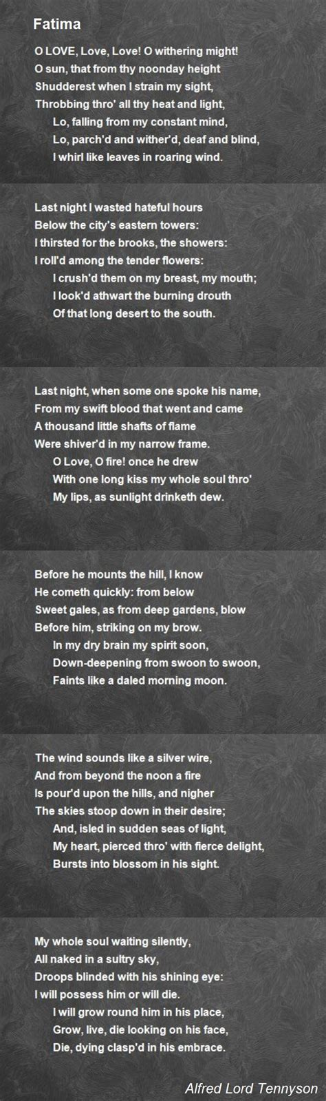 brain s name poem by iiriver of blood on deviantart fatima poem by alfred lord tennyson poem