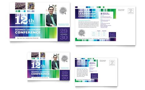 business leadership conference postcard template word