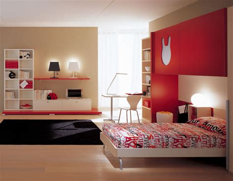 kids red bedroom home quotes teen bedroom designs modern space saving