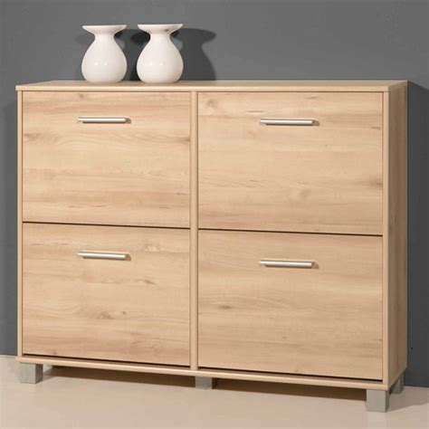 Modern Shoe Storage Cabinet In White With 4 Doors 26810 Furn Modern Shoe Cabinet Furniture