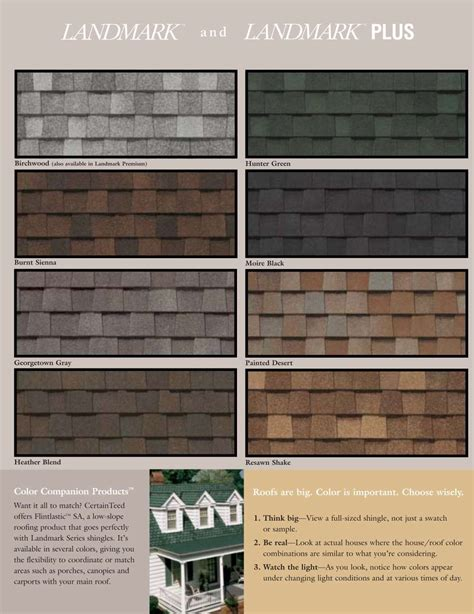 certainteed landmark colors certainteed roofing certainteed landmark series premium