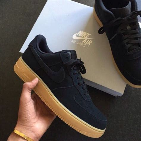 air one low black suede shoes nike black nike air 1 nike shoes suede