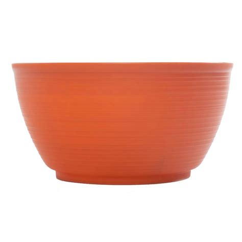 Plastic Planter Bowls by Bloem 15 In Tequila Dura Cotta Plastic Plant Bowl