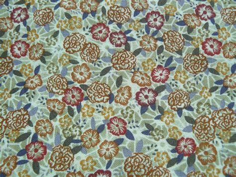 small print upholstery fabric small print floral fabric calico neutral fabric burnt orange