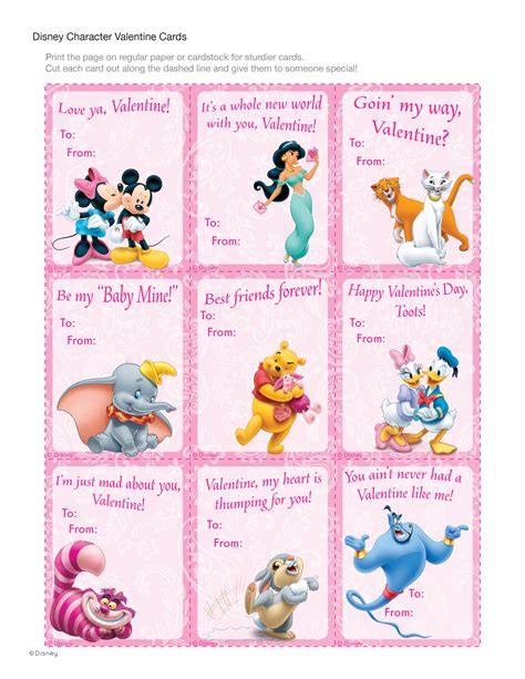 valentines card disney disney character cards disney family
