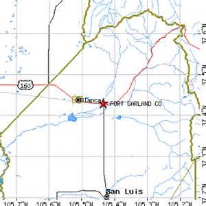fort garland colorado map fort garland colorado co population data races