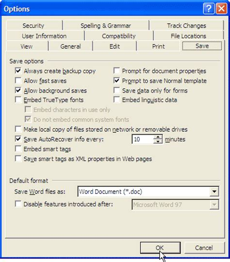 Word Counter Auto Save Option How Can I Make Word Save Or Back Up My Document Automatically