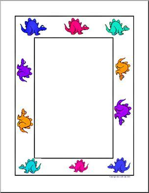 lined paper with dinosaur border border paper dinosaurs without lines abcteach
