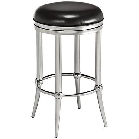 26 inch backless swivel counter stools cadman 26 quot backless nickel black swivel counter stool