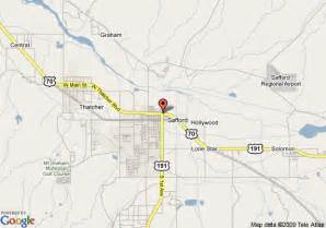 map of safford days inn safford