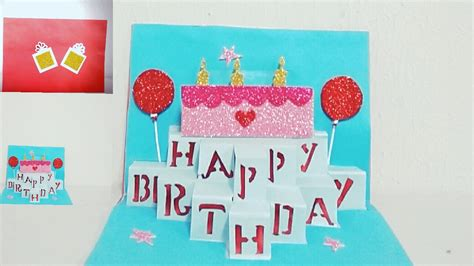 pop up birthday cards for diy pop up birthday card