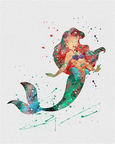 ariel painting free ariel mermaid 3 watercolor print mermaid