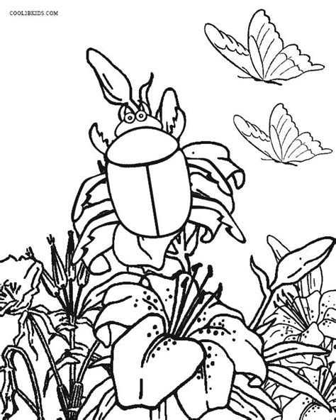 garden insects coloring page free garden bug coloring pages
