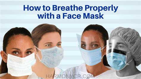 how to properly a how to wear a mask harmony supply