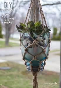 diy macrame hanging planter diy macrame mason jar hanging planter