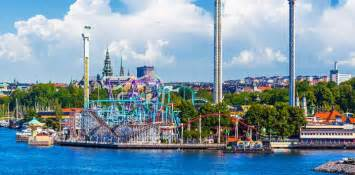 Drink Coaster gr 246 na lund stockholm s amusement park by the sea view