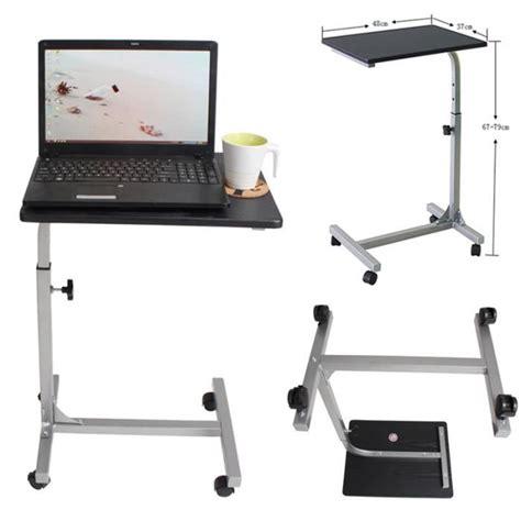 bureau sur roulettes pour ordinateur table pour ordinateur portable hauteur r 233 glable roulettes