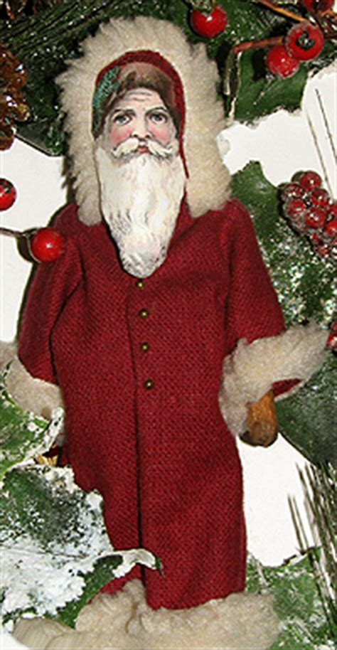 christmas crafts  fashioned christmas santa dolls