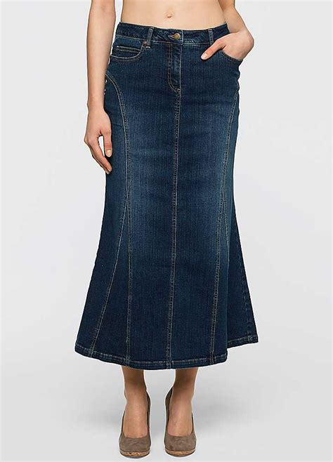 denim midi skirt by bonprix curvissa