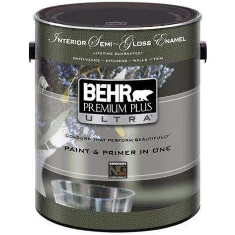 home depot behr ultra paint behr behr premium plus ultra interior semi gloss enamel