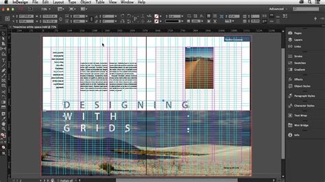 In Design Layout Grid | designing with grids in indesign