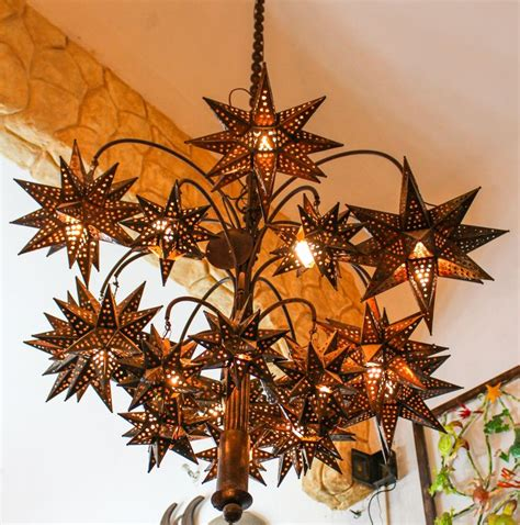 Mexican Chandelier Chandelier El Callejon Tin And Glass Tin And Chandeliers