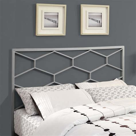queen iron headboard only full queen metal headboard in silver i 2626q