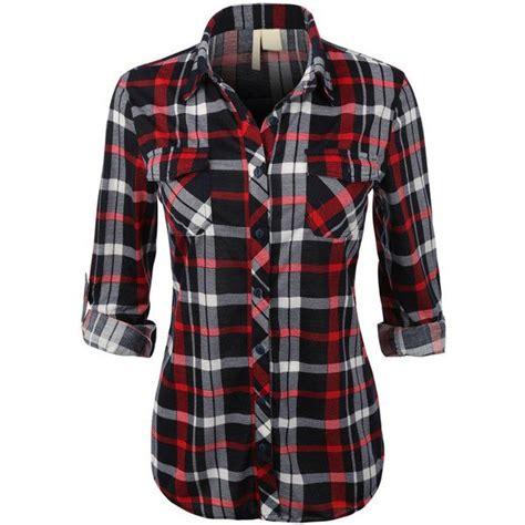 Shirt Tartan womens lightweight plaid button shirt with roll up