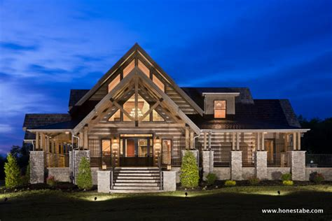 Ranch Floor Plans With Great Room by Cambridge Log Home Plan By Honest Abe Log Homes Inc