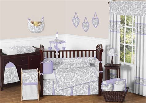 Lavender And Gray Crib Bedding by Lavender And Gray Elizabeth Baby Bedding 9pc Crib Set By Sweet Jojo Designs Beyond Bedding 10