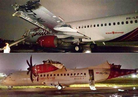 batik air english indonesische boeing 737 botst op vliegtuig tijdens start
