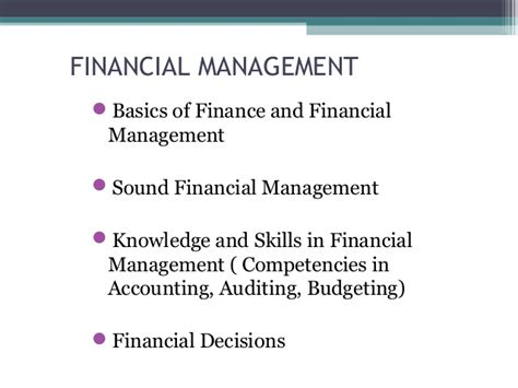Basic Knowledge Of Mba by Financial Management Term Course For Non Finance