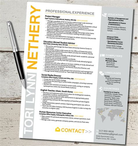 pin creative marketing resume exles on