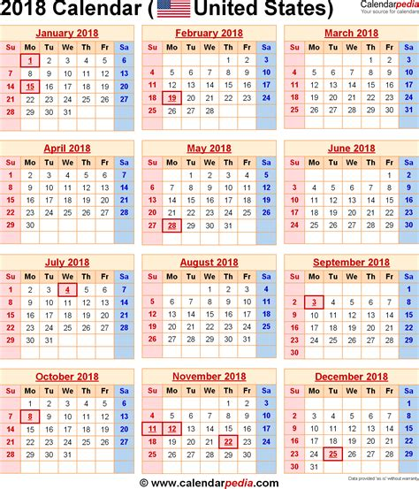 Calendar 2018 Showing Bank Holidays 2018 Calendar 16 Free Printable Word Calendar Templates