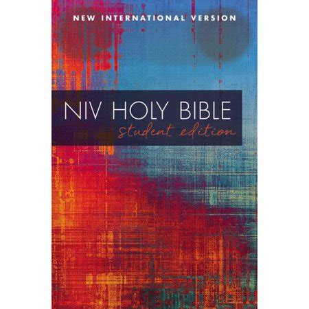 Niv Outreach Bible niv outreach bible student edition paperback walmart