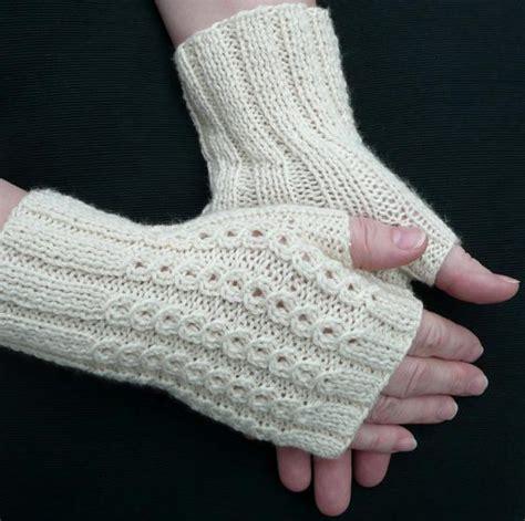 knit gloves pattern bonbons fingerless mitts knitting patterns and crochet