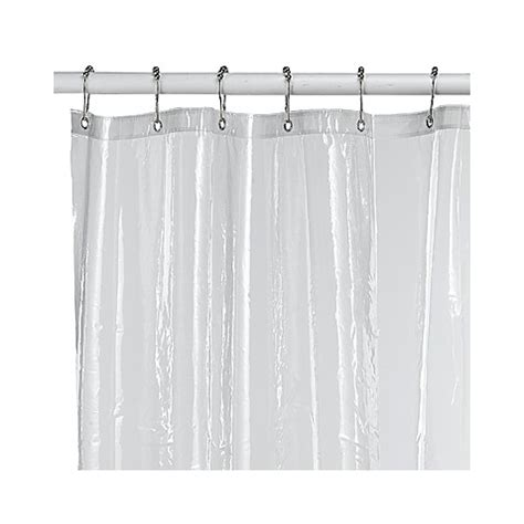 clear vinyl shower curtains buy clear shower curtains from bed bath beyond