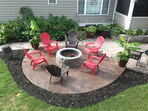 patio with fire pit built in new sted concrete patio with built in fire pit what a