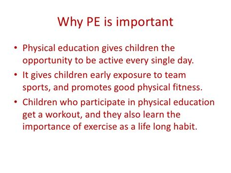 why is physical education important in primary schools